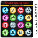 active recreation web icons for ... | Shutterstock .eps vector #483262414