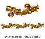 golden  ornamental segment for... | Shutterstock . vector #483264850