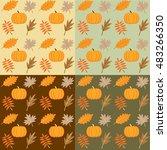 autumn background  beautiful...   Shutterstock .eps vector #483266350