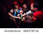 young girls getting drunk at... | Shutterstock . vector #483278716