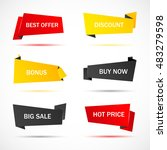 vector stickers  price tag ... | Shutterstock .eps vector #483279598