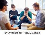 support of friends | Shutterstock . vector #483282586