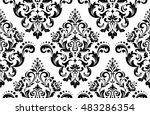 damask seamless floral pattern. ... | Shutterstock .eps vector #483286354