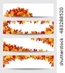set of four vector banners with ... | Shutterstock .eps vector #483288520