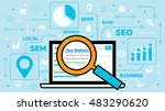 seo   search engine... | Shutterstock .eps vector #483290620