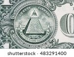 Small photo of all-seeing eye. Masonic sign. Mason symbol. 1 one dollar.