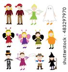 halloween costumes | Shutterstock . vector #483297970