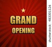 grand opening banner vector   Shutterstock .eps vector #483301126