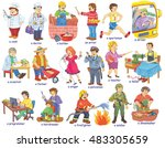 set of people of different... | Shutterstock . vector #483305659