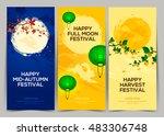 happy harvest mid autumn... | Shutterstock .eps vector #483306748