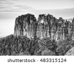 Sharp Sandstone Cliffs Of...
