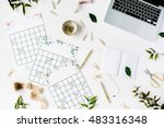wedding planner schedule... | Shutterstock . vector #483316348