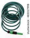 garden hose coiled on plain... | Shutterstock . vector #483317998