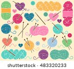 cute vector collection of balls ... | Shutterstock .eps vector #483320233