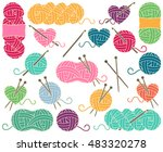 cute vector collection of balls ... | Shutterstock .eps vector #483320278