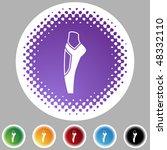 ballet slipper icon button... | Shutterstock .eps vector #48332110