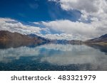 spectacular pangong lake with... | Shutterstock . vector #483321979