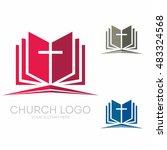 church logo. christian symbols. ... | Shutterstock .eps vector #483324568