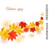 autumn orange  red  yellow... | Shutterstock .eps vector #483326014