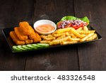 Fish Sticks With Vegetables On...