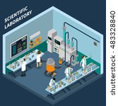 science isometric concept with... | Shutterstock .eps vector #483328840