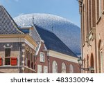 old houses and modern... | Shutterstock . vector #483330094