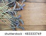 purple vintage flowers rustic... | Shutterstock . vector #483333769