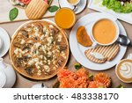 vegetarian breakfasts | Shutterstock . vector #483338170