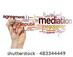 Small photo of Mediation word cloud concept