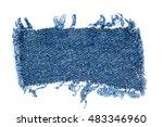 Destroyed Torn Denim Blue Jean...