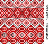 ethnic seamless pattern with... | Shutterstock .eps vector #483351328