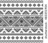ethnic seamless monochrome... | Shutterstock .eps vector #483351904