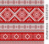 ethnic seamless pattern with... | Shutterstock .eps vector #483351910