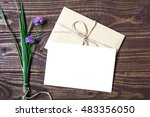 Blank White Greeting Card And...