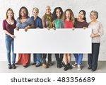 group of women happiness...   Shutterstock . vector #483356689