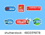 call us now icon vector... | Shutterstock .eps vector #483359878