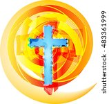 abstract modern christianity... | Shutterstock .eps vector #483361999