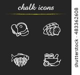 food categories chalk icons set.... | Shutterstock .eps vector #483362608