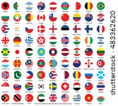 circle flags of the world | Shutterstock .eps vector #483362620