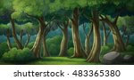 illustration of an outdoor in... | Shutterstock . vector #483365380