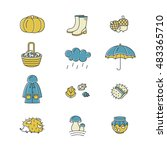big collection of linear icons... | Shutterstock .eps vector #483365710