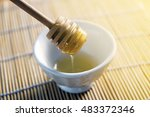 honey bees just collected for a ... | Shutterstock . vector #483372346