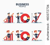 successful smiling business... | Shutterstock .eps vector #483372736