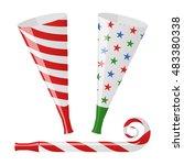blower horn set vector... | Shutterstock .eps vector #483380338