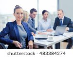business  technology and office ... | Shutterstock . vector #483384274
