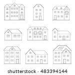 set of vector buildings | Shutterstock .eps vector #483394144