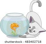 animal illustration of a... | Shutterstock .eps vector #483402718