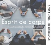 Small photo of Esprit De Corps Group Loyalty People Graphic Concept