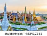 grand palace and wat phra keaw... | Shutterstock . vector #483412966