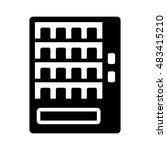 automatic vending machine flat... | Shutterstock .eps vector #483415210